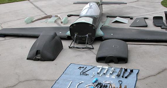 MX Aircraft Kit in parts